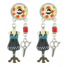 Taratata Bobine Earrings (Button)